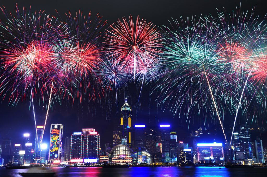 Hong Kong New Year Fireworks
